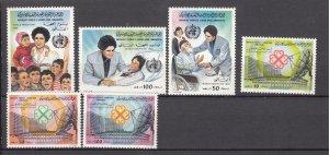 J27511 1983 libya sets mnh #1101-3, 1119-21,  designs