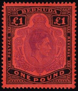 Bermuda #128 King George VI; Unused (4Stars)