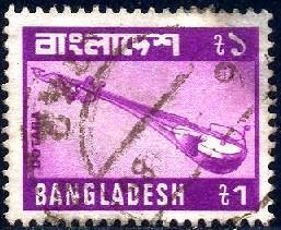 Dotara, Musical Instrument, Bangladesh stamp SC#174 used