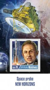 MALDIVES - 2019 - Space Probe New Horizons - Perf Souv Sheet - MNH