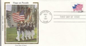 1991, Flags on Parade, Colorano Silk, FDC (D13948)