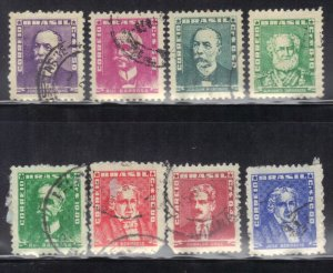BRAZIL  PORTRAIT STAMPS  USED  1954-60     SEE SCAN
