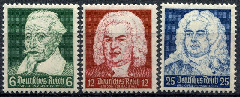 DeutschesReich Sc.# 456-8   MLH*   Mi.#  573-5