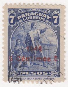 Paraguay, Sc 429, Used, 1945, Columbus