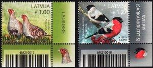 LATVIA 2021-12 FAUNA: Birds. CORNER, MNH