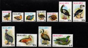 $Malawi Sc#233//245 M/NH/VF, paert set, ex. 239, 243, birds, Cv. $59.75