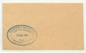 RHODESIA Cover Mpopoma Railway 1971 {samwells-covers} CG272