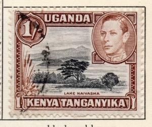 British KUT Uganda 1938-54 Early Issue Fine Used 1S. 027073