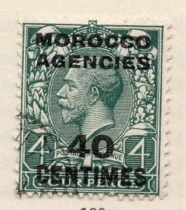 Morocco Agencies 1920s Early Issue Fine Used 40c. Surcharged 187261
