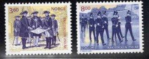 Norway Scott 1258-1259 MNH** Military Academy set 2000