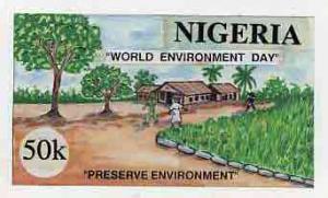 Nigeria 1993 World Environment Day - original hand-painte...