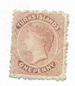 Turks Islands #1 - MH - Stamp CAT VALUE $67.50