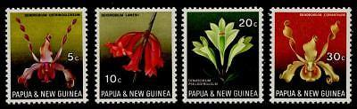 Papua New Guinea 287-90 MNH FLOWERS, ORCHIDS
