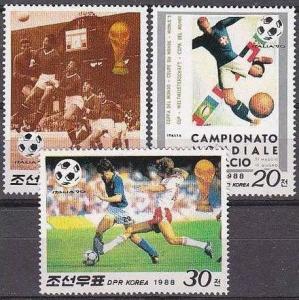 1988 Korea, North 2914-16 1990 World championship on football of Italien