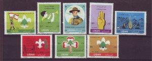 J24039 JLstamps 1962 lebanon set mh #376-80,c331-3 boy scouts