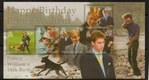FALKLAND ISLANDS SGMS880 2000 18TH BIRTHDAY OF PRINCE WILLIAM MNH