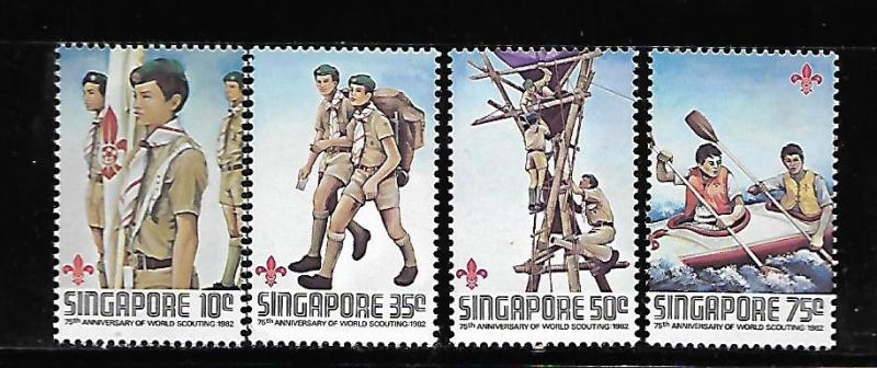 SINGAPORE, 404, MNH, 75TH ANNIV. OF WORLD SCOUTING