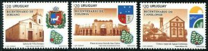 HERRICKSTAMP NEW ISSUES URUGUAY Sc.# 2580-82 Canelones, Soriano & Colonia