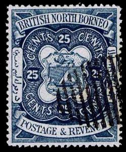BRITISH NORTH BORNEO #31 ARMS - USED - VF - CV$20.00 (ESP#2469)