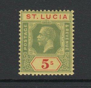 St. Lucia, Scott 89 (SG 105), MHR