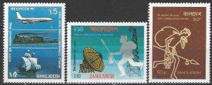 Bangladesh  229-31  MNH  UN World Communications Year 1983