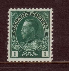 Canada #104vi Very Fine Never Hinged Dark Green On Thick Paper Variety *Cert.*