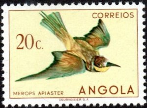 Angola 336 - Mint-H - 20c European Bee-eater (1951) (cv $0.85)