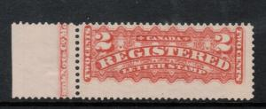 Canada #F1a Mint Fine Lightly Hinged Imprint Single