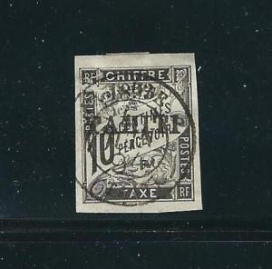 Tahiti Stamps J19 Y&T tt19 Used Signed VF 1893 SCV $550.00