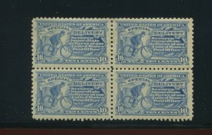 Scott E9 Special Delivery Perf 10  Mint Block of 4 Stamps (Stock E9-B1)