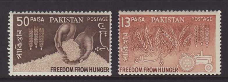 Pakistan 176-177 Freedom From Hunger MNH VF
