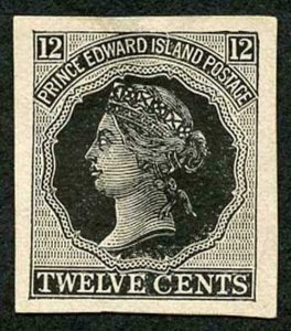 Prince Edward Island 3c reprint plate proof in black on Thick paper