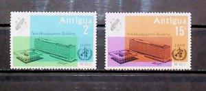 British Colony Antigua 1966 W.H.O. Headquarter Geneva MH* Full Set A22P16F8714