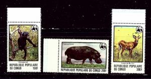 Congo PR 456-58 MNH 1978 High values from W.W.F. set