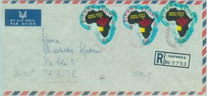 83822 - Sierra Leone - Self-Adhesive stamps on COVER 1969  maps HUMAN RIGHTS
