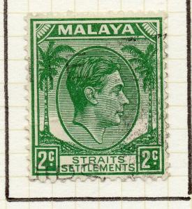 Malaya Straights Settlements 1937-41 Early Issue Fine Used 2c. 308053