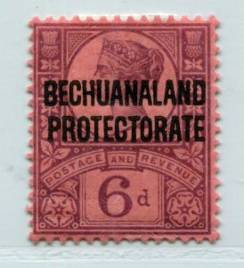 QV BRITISH BECHUANALAND VICTORIA 6p PURPLE OVERPRINT SCOTT 74 SG 65 VF MH