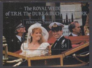 Tuvalu Funafuti 61 Royal Wedding Souvenir Sheet MNH VF