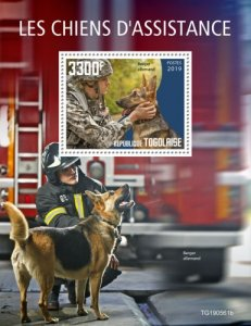 TOGO 05 11 2019 Code: TG190544a-TG190564b. Assistance dogs. Blok.
