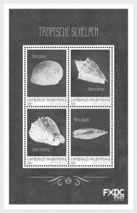 Stamps 2018 Caribbean Netherlands - Shells Black/White - (St. Eustatius) - Minia