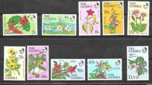 GAMBIA ,AFRICA,BRITISH COMMOWELTH,FLOWERS,MNH