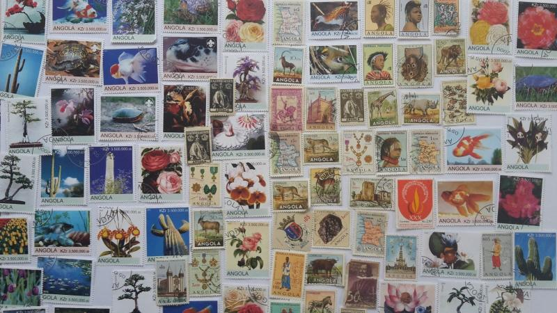300 Different Angola Stamp Collection