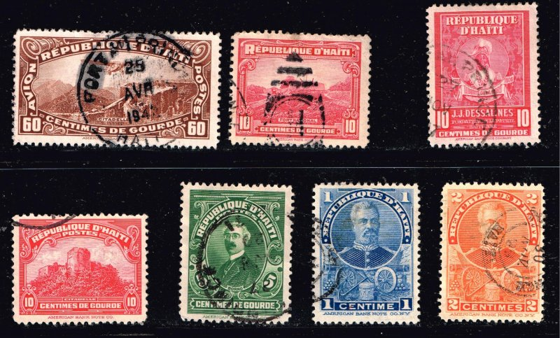 Republic D' Haiti stamp USED STAMPS COLLECTION LOT #1