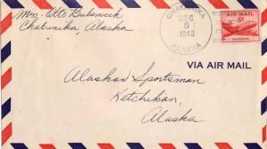 United States Alaska Chatanika 1948 4f-bar  Type 6  1947-1982.