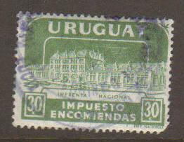 Uruguay Impuesto Encomiendas Tax Stamp Used