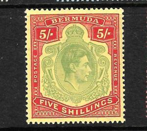 BERMUDA 1938 5/- KGVI  MLH SG118