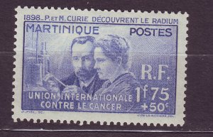 J23811 JLstamps 1938 french martinique set of 1 used #b2 curie issue