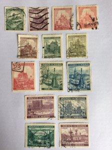 Bohmen und Mahren 1944 14 stamps used and hinged