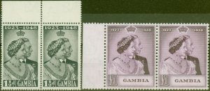 Gambia 1948 RSW set of 2 SG164-165 Superb MNH Pairs