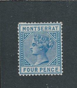 MONTSERRAT 1880 4d BLUE MM SG 5 CAT £150